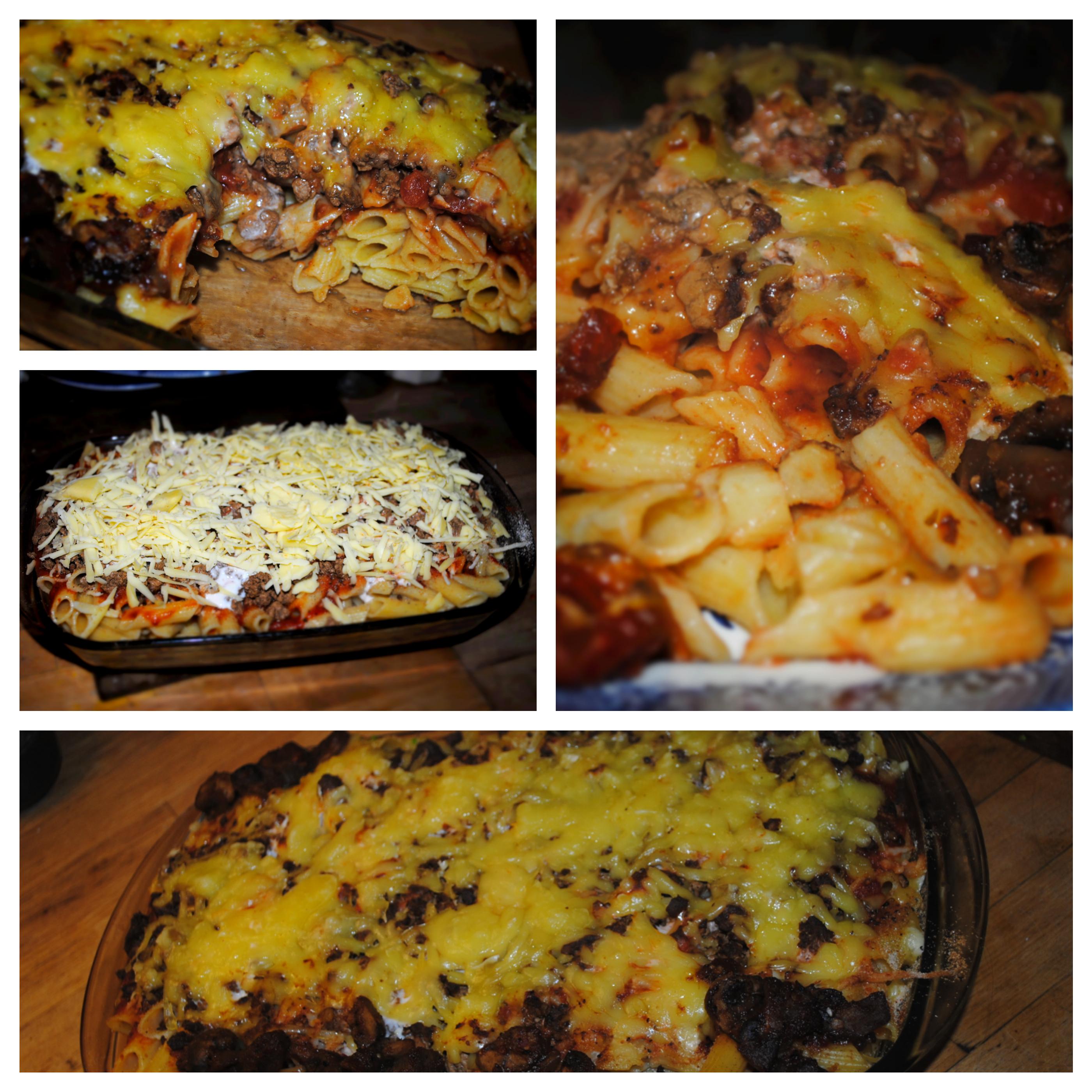 A lasagne pasta photo collage